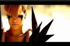 Regardez Rihanna, à moitié nue, prendre un bain de boue et danser sur un tank rose, dans son dernier clip... c'est Hard !
