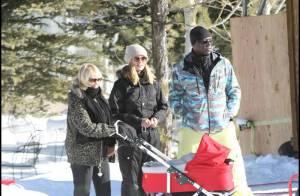 Heidi Klum et Seal s'éclatent en snow et la petite Lou découvre les joies de la glisse... en poussette ! Au top !