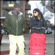 Heidi Klum, Seal et leur petite Lou à Aspen le 22 décembre 2009