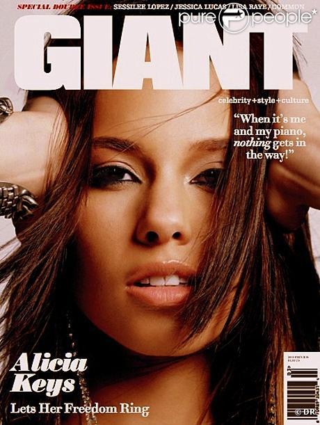 Alicia Keys en couverture de  Giant