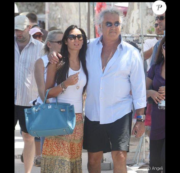 Flavio Briatore et sa compagne Elisabetta Gregoraci