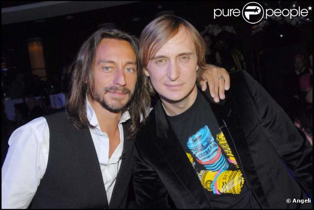 "Photo of Bob Sinclar & his friend musician  David Guetta - Song ""Summer Moon"""