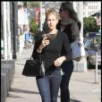 Kelly Rutherford et son fils Hermes à Hollywood, le 5 janvier 2009