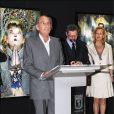 Pal Sarkozy, père de Nicolas, inaugure son exposition Out of Mind à Madrid en juin 2008