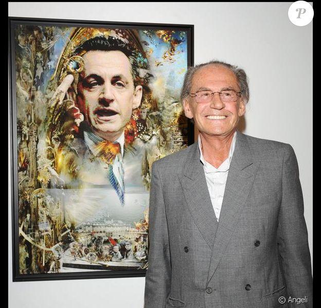 Pal Sarkozy, père de Nicolas, lors de l'inauguration de son exposition à Madrid en 2008