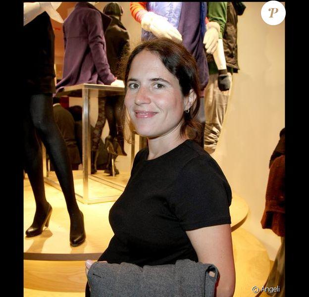 Mazarine Pingeot, lors de l'inauguration de la boutique Uniqlo en septembre 2009