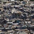 Vue aérienne de Haïti après le tremblement de terre, janvier 2010