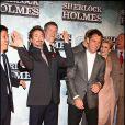 Robert Downey Jr. et Jude Law lors de la première de Sherlock Holmes à Madrid le 12 janvier 2010