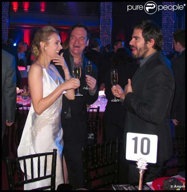 Diane Kruger, Quentin Tarantino et Eli Roth aux Critics' Choice Awards à Los Angeles, le 15 janvier 2010 !