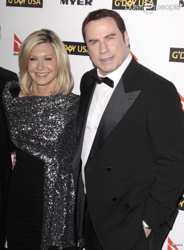 Olivia Newton-John et John Travolta au G'Day Usa 2010, à Los Angeles, le 16 janvier 2010 !