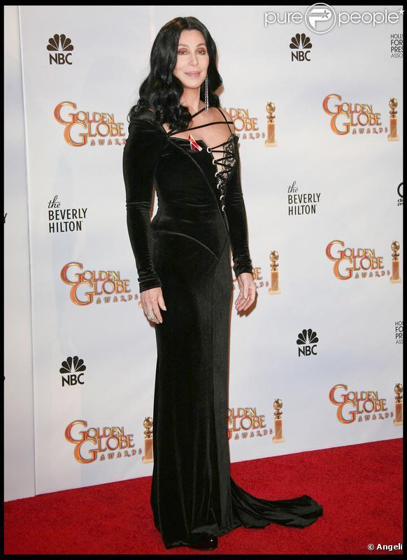 Cher lors des Golden Globes 2010, le 17 janvier dernier au Beverly Hilton de Los Angeles