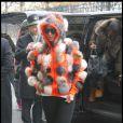 Amber Rose à Paris, le 21 janvier 2010