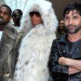 Kanye West et Amber Rose à Paris pour la Fashion Week masculine, le 21 janvier 2010