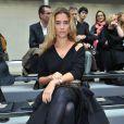 Vahina Giocante à Paris pour la Fashion Week masculine, le 21 janvier 2010