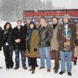 Les membres du jury lors du festival international du film fantastique de Gérardmer le 28 janvier 2010