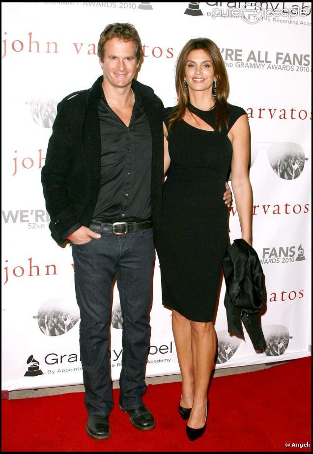 Cindy Crawford et Rande Gerber au concert privé de la boutique John Varvatos pour les Grammy Awards, le 28 janvier 2010 !