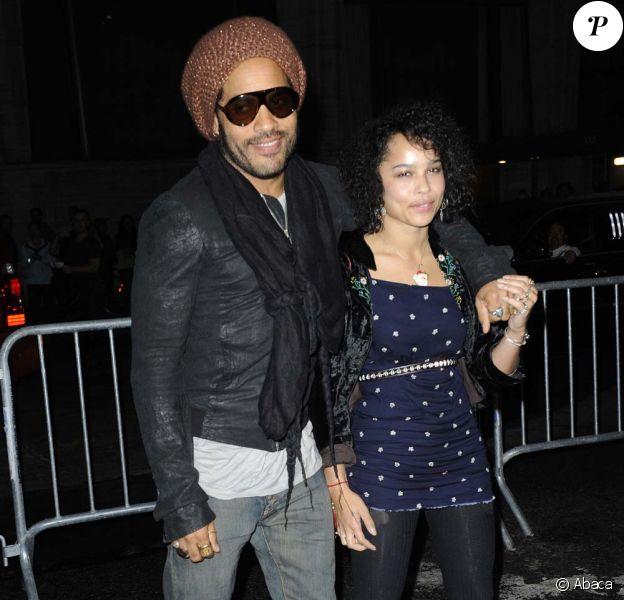 Lenny et Zoë Kravitz à New York, le 3 octobre 200