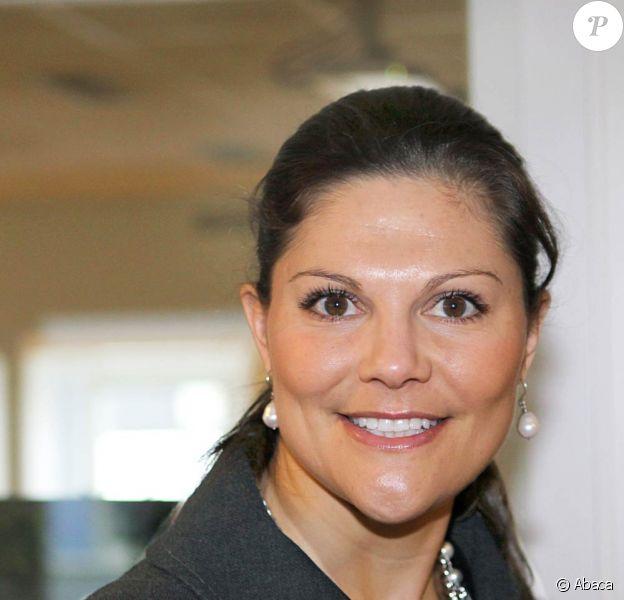 Victoria de Suède inaugure le Centre d'Innovation de Djurgarden, à Stockholm, le 2 février 2010