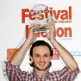 Dimitri Storoge récompensé à l'occasion de la cérémonie de clôture du 12e Festival de Luchon, le 6 février 2010.