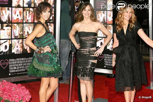 Julia Roberts, Jennifer Garner et jessica Alba pour la première de Valentine's Day