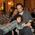 Karine Silla, Vincent Perez et Pablo au Carnaval des Enfants, au Meurice. 7/02/2010