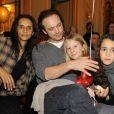 Karine Silla, Vincent Perez, Tess et Iman au Carnaval des Enfants, au Meurice. 7/02/2010
