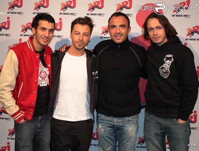 Christophe Maé et l'équipe du 6/9 d'NRJ, Nikos Aliagas, Florian Gazan et Mustapha El Atrassi
