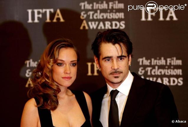 Colin Farrell et Alicja Bachleda-Curus à la 7e édition des Irish Film and Television Awards. 20/02/2010