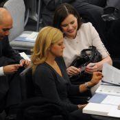 Geena Davis et la princesse Madeleine de Suède, ravissantes et bien complices pour s'approprier... le millénaire !