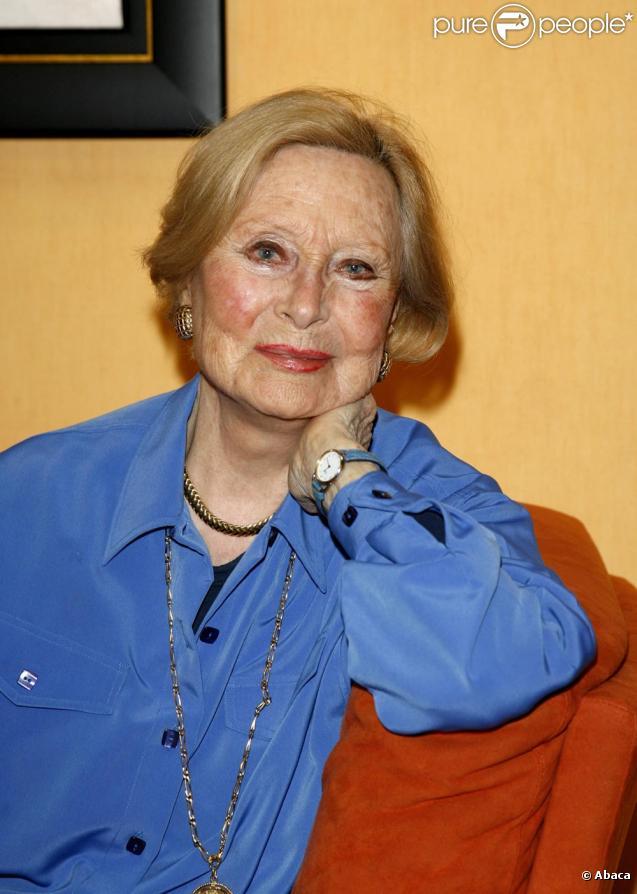 Michèle Morgan en 2008