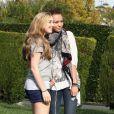 Miley Cyrus et son boyfriend Liam Hemsworth à Toluca Lake, le 28 février 2010