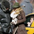 Blake Lively sur le tournage de Gossip Girl, le 1er mars 2010
