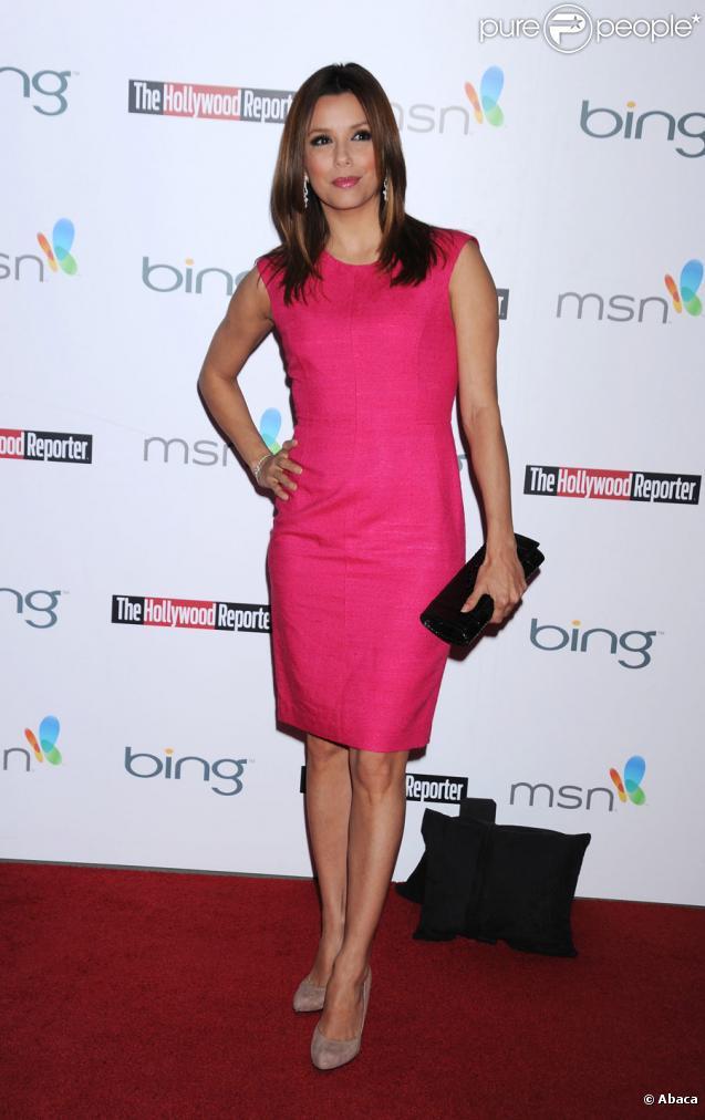 Eva Longoria lors de la pré-soirée des Oscars organisée par The Hollywood Reporter à Los Angeles le 4 mars 2010