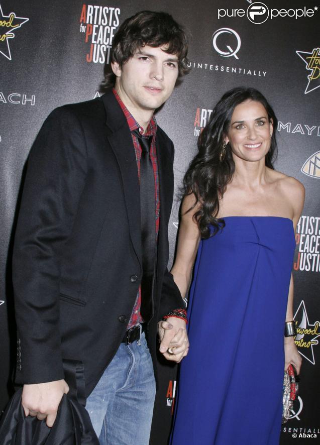 Ashton Kutcher et Demi Moore lors de la soirée Hollywood Domino Gala le 4 mars 2010 à Los Angeles