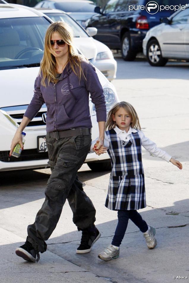 Heidi Klum et ses enfants à Los Angeles le 4 mars 2010.