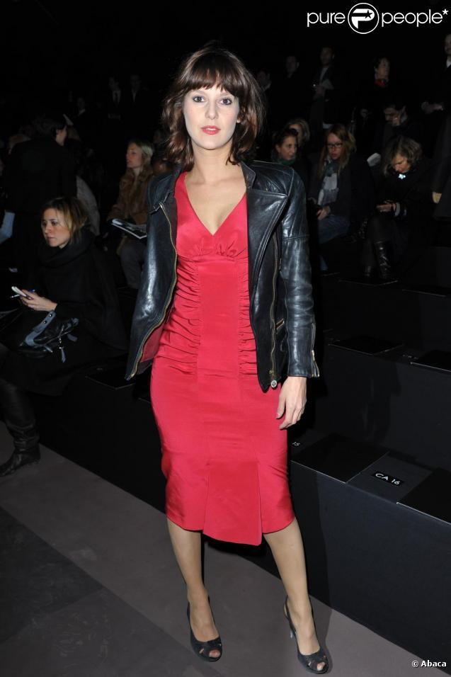 Elodie Navarre au défilé Elie Saab le 10 mars