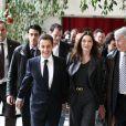 Carla et Nicolas Sarkozy sont allés voter pour le 1er tour des élections régionales. Paris, le 14 mars 2010