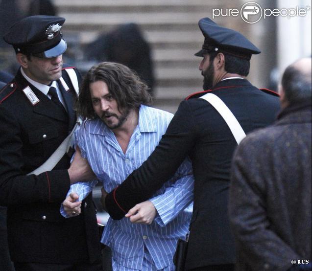 Johnny Depp sur le tournage de The Tourist à Venise