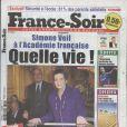 La une de  France Soir , édition du 17 mars 2010 !