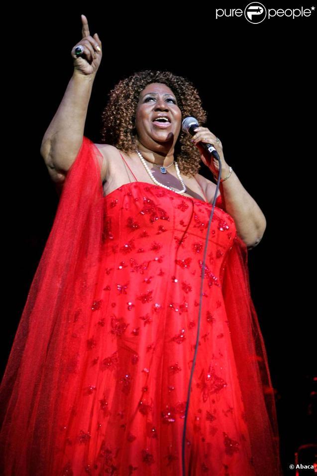 Aretha Franklin en concert au Seminole Hard Rock Hotel and Casino, à Hollywood en Floride, le 16 mars 2010 !