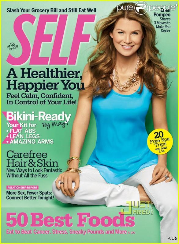 Ellen Pompeo en couverture de Self Magazine