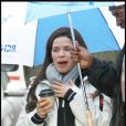America Ferrera sur le tournage d'Ugly Betty à New York le 12 mars 2010