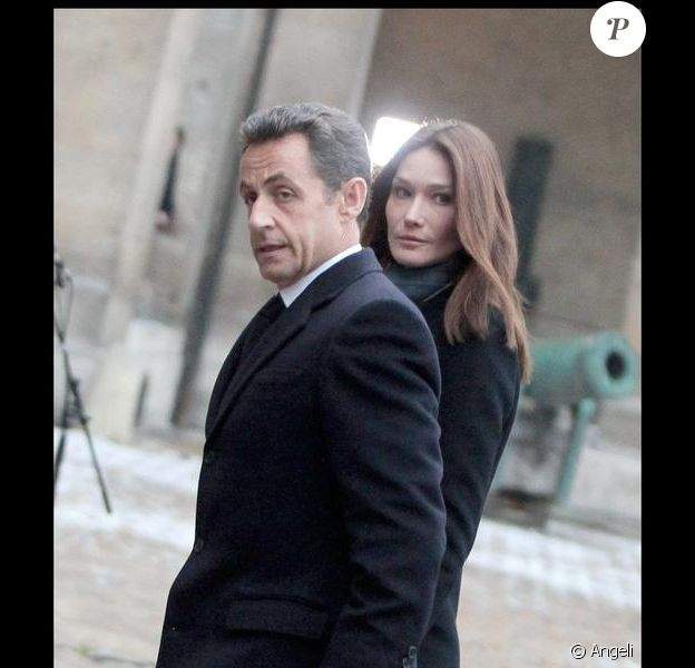 Carla Bruni et son époux Nicolas Sarkozy