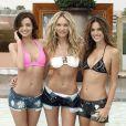 Miranda Kerr, Candice Swanepoel et Alessandra Ambrosio à l'anniversaire du catalogue maillots de bain de Victoria's Secret. Le 25 mars à Los Angeles