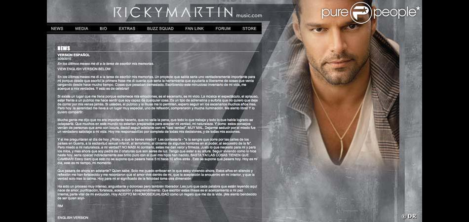 Site officiel de Ricky Martin