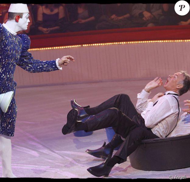 Franck Dubosc et Antoine Duléry pour le Gala de l'Union des Artistes au Cirque d'Hiver Bouglione le 29   mars 2010