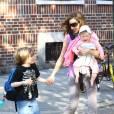"""""""Sarah Jessica Parker et ses trois enfants, à New York. 07/04/2010"""""""