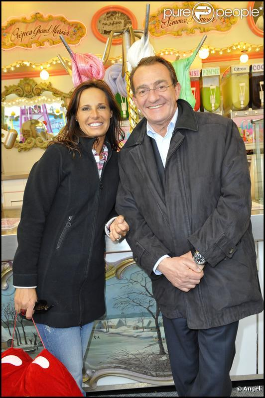 Jean-Pierre Pernaut et Nathalie Marquay à la Foire du Trône. 08/04/2010