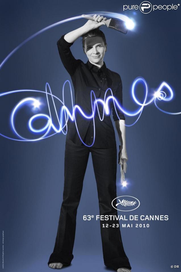 Juliette Binoche sur l'affiche officielle du 63e Festival de Cannes.