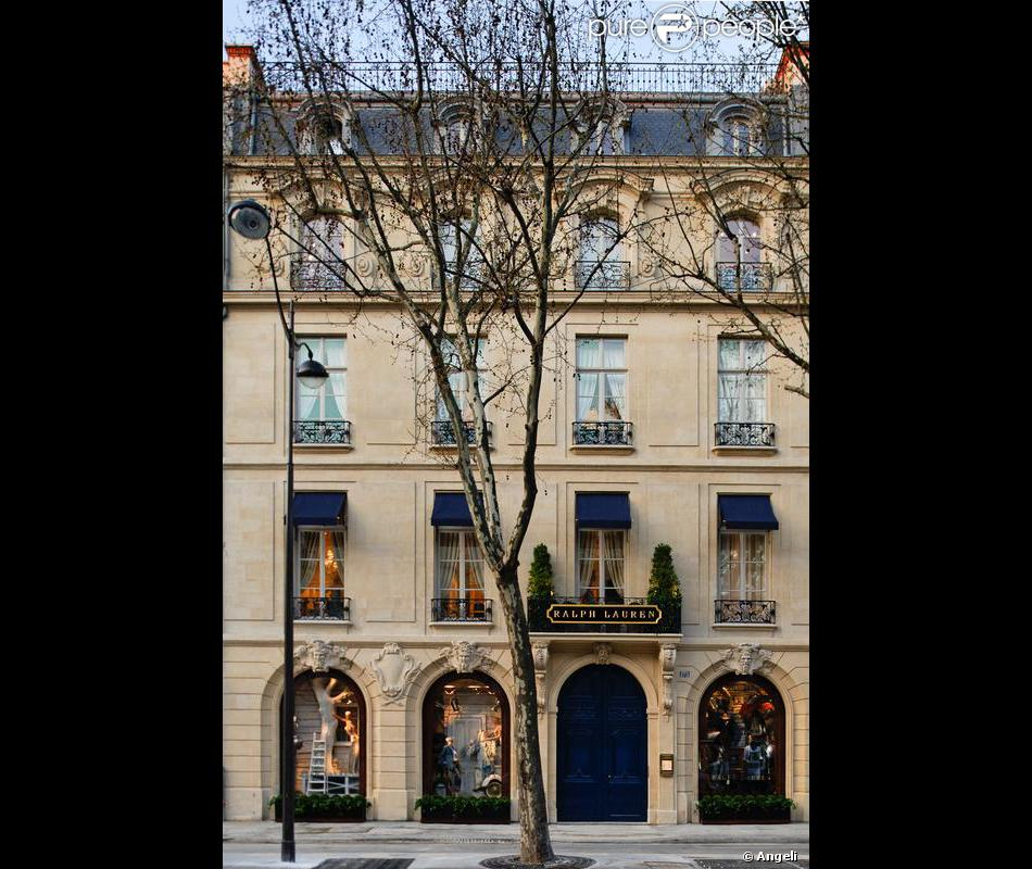 57d05d4db525 Boutique Ralph Lauren à Paris, à Saint Germain - Purepeople